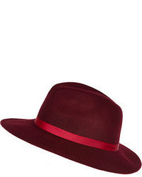 Women s Burgundy Wool Hats by River Island  98f1bfcabad6