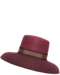 Eshvi Audrey Burgundy Wool Hat