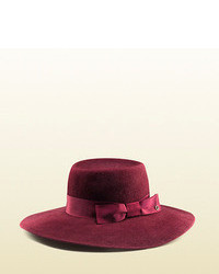 Gucci Felted Velour Wide Brimmed Hat