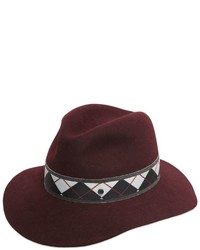 Maison michel henrietta argyle hatband rabbit felt hat medium 534905