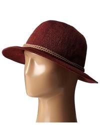 San Diego Hat Company Pbf6162 Woven Paper Fedora W Suede Braided Trim Fedora Hats