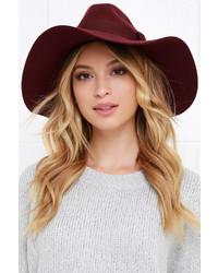 Brixton Piper Burgundy Hat