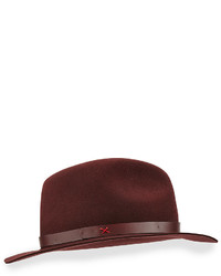 Rag bone abbott leather band felt fedora medium 373857