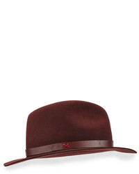 Rag and Bone Rag Bone Abbott Leather Band Felt Fedora