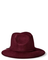 Mossimo Supply Co Solid Fedora Hat Burgundy