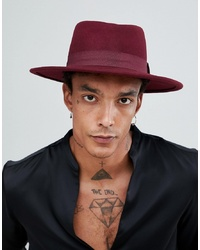 d029ba6a494 ... Band Detail Out of stock · ASOS DESIGN Wide Brim Pork Pie In Burgundy