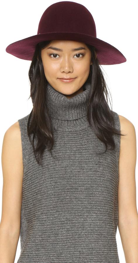 ... Burgundy Wool Hats Hat Attack Wool Felt Round Crown Floppy Hat ... 16381c5204de