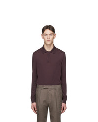 Ermenegildo Zegna Purple Wool Long Sleeve Polo
