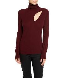 A.L.C. Billy Wool Cashmere Turtleneck Sweater Bordeaux