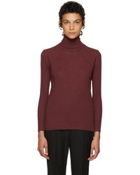 Haider Ackermann Burgundy Katz Turtleneck