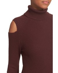 Theory Jemliss Evian Cold Shoulder Wool Blend Turtleneck