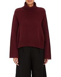 Co Mercerized Wool Cashmere Turtleneck Sweater