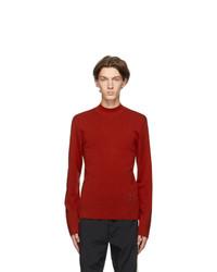 Kenzo Orange Wool Tiger Crest Sweater