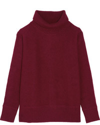 Vanessa Bruno Franchon Wool Turtleneck Sweater Claret