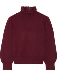Co Wool And Cashmere Blend Turtleneck Sweater Burgundy