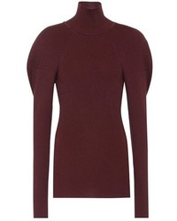 Victoria Beckham Wool Blend Turtleneck Sweater