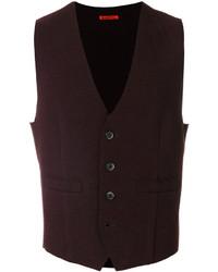 Burgundy Wool Waistcoat