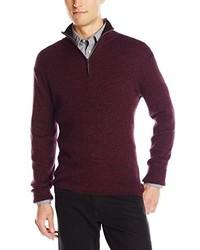 DKNY Jeans Long Sleeve 14 Zip Rib Marl Mock Neck Sweater