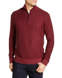 David Donahue Ice Merino Wool Quarter Zip Pullover