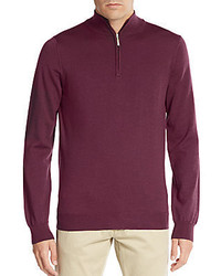 Saks Fifth Avenue Merino Wool Half Zip Sweater