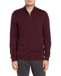 Nordstrom Men's Shop Nordstrom Half Zip Cotton Cashmere Pullover