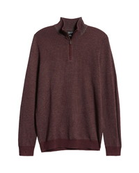 Nordstrom Men's Shop Quarter Zip Mock Neck Sweater