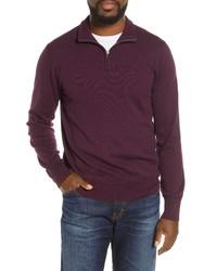 Bonobos Slim Fit Quarter Zip Sweater