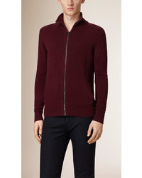Burberry Zip Front Cashmere Cardigan