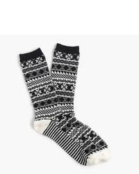 Calcetines de grecas alpinos negros de J.Crew