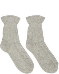 Calcetines de lana en beige