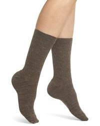 Calcetines de lana marrónes