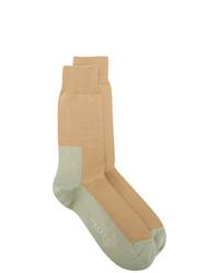 Calcetines de punto marrón claro de Marni