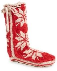 Calcetines de punto rojos de Woolrich