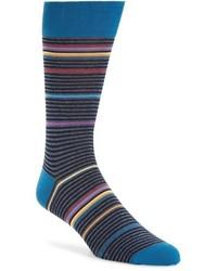 Calcetines de rayas horizontales azul marino de Bugatchi