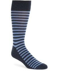 Calcetines de rayas horizontales azul marino de Nordstrom