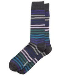 Calcetines de rayas horizontales azul marino de Pantherella