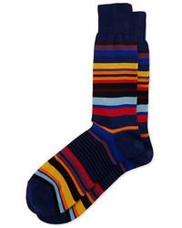 Calcetines de rayas horizontales azul marino de Paul Smith