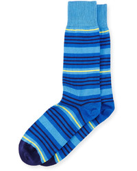 Calcetines de rayas horizontales azules de Paul Smith