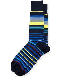Calcetines de rayas horizontales azules de Paul Smith