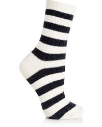 Calcetines de Rayas Horizontales Blancos y Negros de Sonia Rykiel