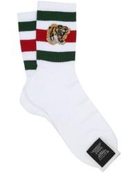 Calcetines de rayas horizontales blancos de Gucci