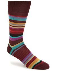 Calcetines de rayas horizontales burdeos de Paul Smith
