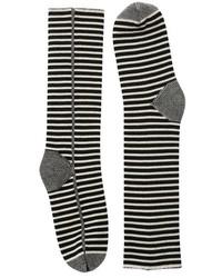 Calcetines de rayas horizontales en blanco y negro de Haider Ackermann