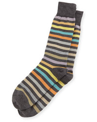 Calcetines de rayas horizontales en gris oscuro de Paul Smith