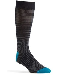 Calcetines de rayas horizontales en gris oscuro de Ted Baker