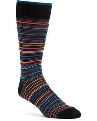 Calcetines de rayas horizontales en multicolor de Bugatchi