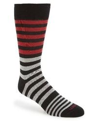 Calcetines de rayas horizontales en multicolor de Lorenzo Uomo