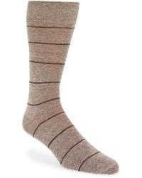 Calcetines de rayas horizontales marrón claro de John W. Nordstrom