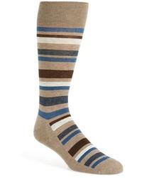 Calcetines de rayas horizontales marrón claro de Nordstrom