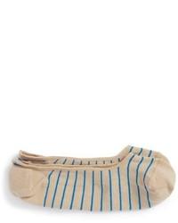 Calcetines de rayas horizontales marrón claro de Peter Millar